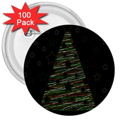 Xmas tree 2 3  Buttons (100 pack)