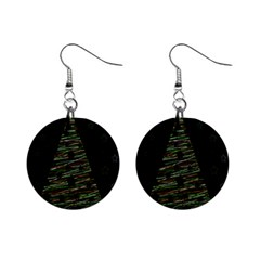 Xmas tree 2 Mini Button Earrings