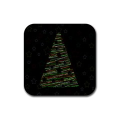 Xmas tree 2 Rubber Square Coaster (4 pack)