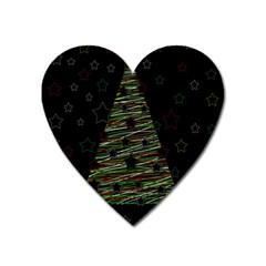 Xmas tree 2 Heart Magnet
