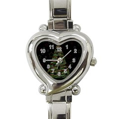 Xmas tree 2 Heart Italian Charm Watch