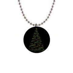 Xmas tree 2 Button Necklaces