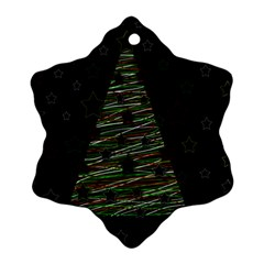 Xmas tree 2 Snowflake Ornament (2-Side)