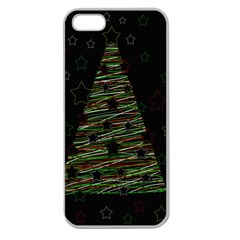 Xmas tree 2 Apple Seamless iPhone 5 Case (Clear)