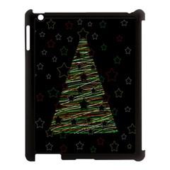 Xmas tree 2 Apple iPad 3/4 Case (Black)