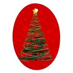 Xmas tree 3 Ornament (Oval)