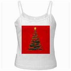 Xmas tree 3 White Spaghetti Tank