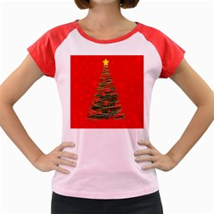 Xmas tree 3 Women s Cap Sleeve T-Shirt
