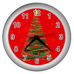 Xmas tree 3 Wall Clocks (Silver)