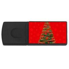 Xmas tree 3 USB Flash Drive Rectangular (2 GB)