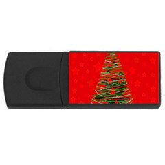 Xmas tree 3 USB Flash Drive Rectangular (1 GB)