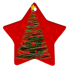 Xmas tree 3 Star Ornament (Two Sides)