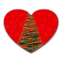 Xmas tree 3 Heart Mousepads