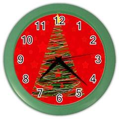 Xmas tree 3 Color Wall Clocks