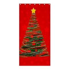 Xmas tree 3 Shower Curtain 36  x 72  (Stall)