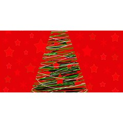 Xmas tree 3 YOU ARE INVITED 3D Greeting Card (8x4)