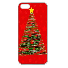 Xmas tree 3 Apple Seamless iPhone 5 Case (Clear)