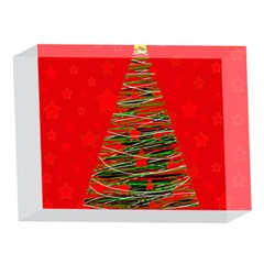 Xmas tree 3 5 x 7  Acrylic Photo Blocks