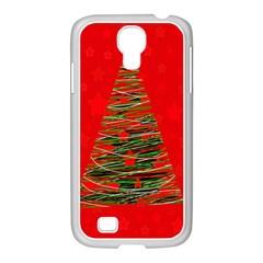 Xmas tree 3 Samsung GALAXY S4 I9500/ I9505 Case (White)