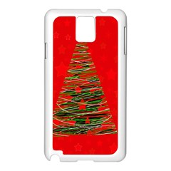 Xmas tree 3 Samsung Galaxy Note 3 N9005 Case (White)