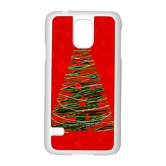 Xmas tree 3 Samsung Galaxy S5 Case (White)