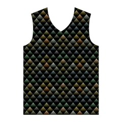 Snake Scales Shiny Skin Men s Basketball Tank Top
