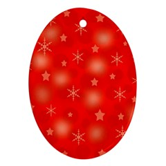 Red Xmas desing Ornament (Oval)