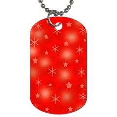 Red Xmas desing Dog Tag (One Side)