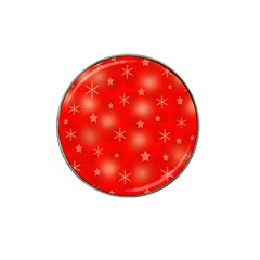 Red Xmas desing Hat Clip Ball Marker (10 pack)