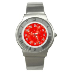 Red Xmas desing Stainless Steel Watch