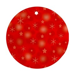 Red Xmas desing Round Ornament (Two Sides)