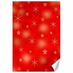 Red Xmas desing Canvas 20  x 30