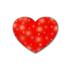 Red Xmas desing Heart Coaster (4 pack)