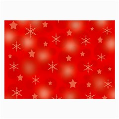 Red Xmas desing Large Glasses Cloth