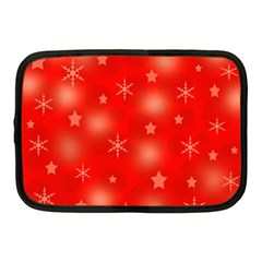 Red Xmas desing Netbook Case (Medium)