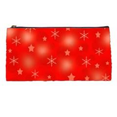 Red Xmas desing Pencil Cases