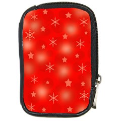 Red Xmas desing Compact Camera Cases