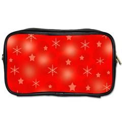 Red Xmas desing Toiletries Bags