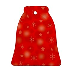 Red Xmas desing Bell Ornament (2 Sides)