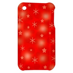 Red Xmas desing Apple iPhone 3G/3GS Hardshell Case