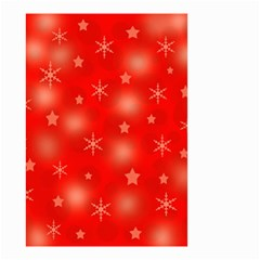 Red Xmas desing Small Garden Flag (Two Sides)
