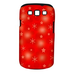 Red Xmas desing Samsung Galaxy S III Classic Hardshell Case (PC+Silicone)