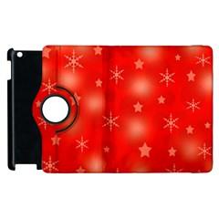 Red Xmas desing Apple iPad 3/4 Flip 360 Case