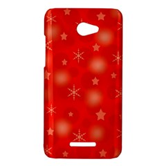 Red Xmas desing HTC Butterfly X920E Hardshell Case