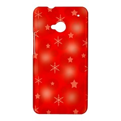 Red Xmas desing HTC One M7 Hardshell Case
