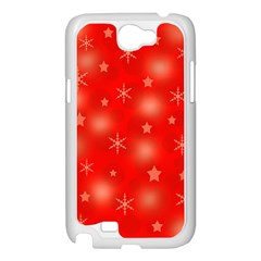 Red Xmas desing Samsung Galaxy Note 2 Case (White)