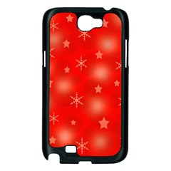Red Xmas desing Samsung Galaxy Note 2 Case (Black)