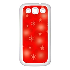 Red Xmas desing Samsung Galaxy S3 Back Case (White)