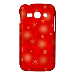 Red Xmas desing Samsung Galaxy Ace 3 S7272 Hardshell Case
