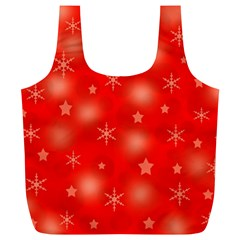 Red Xmas desing Full Print Recycle Bags (L)